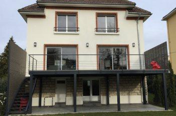 creation terrasse maison banlieue Paris
