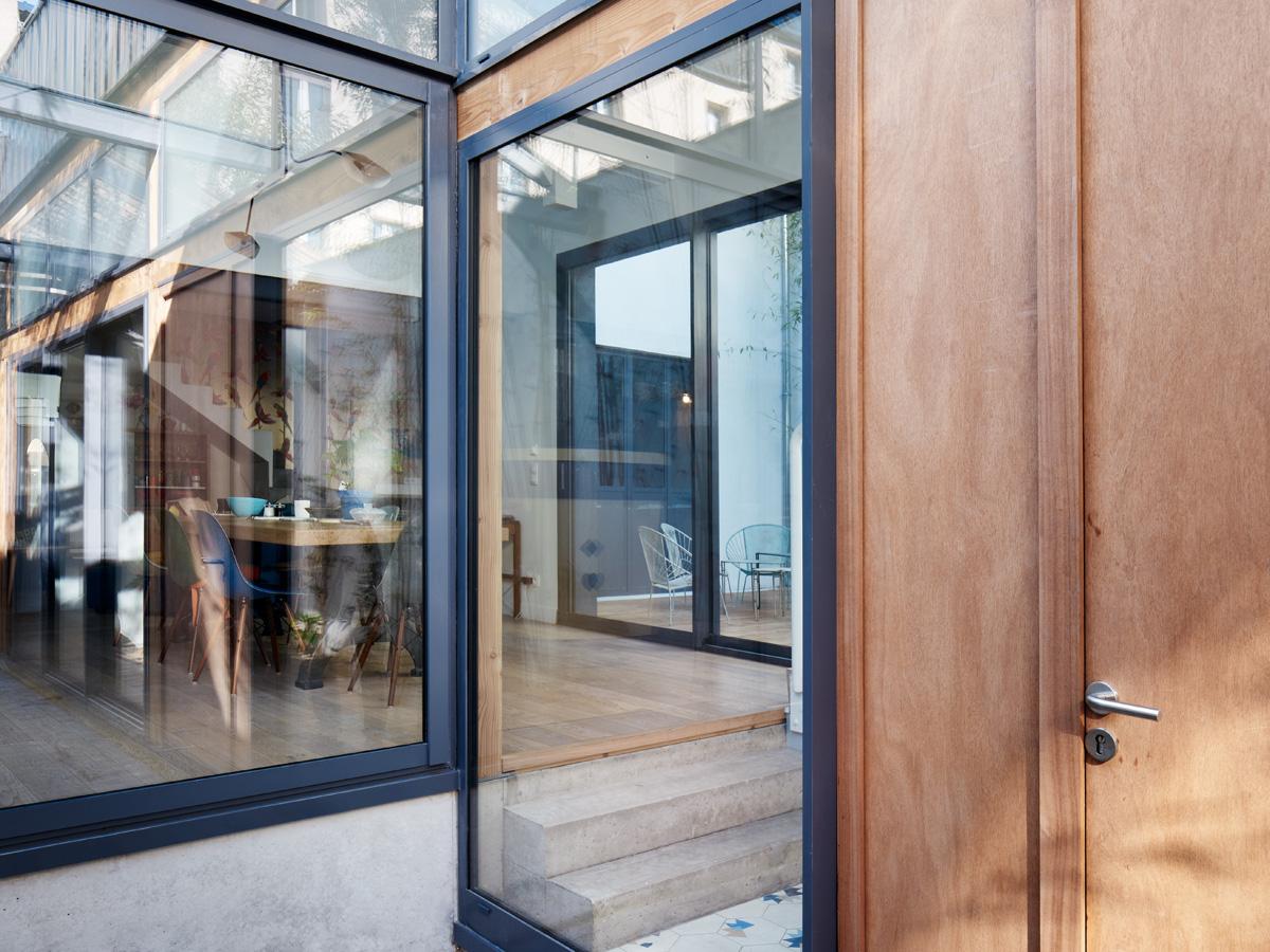 Construction maison de ville : baies vitrées