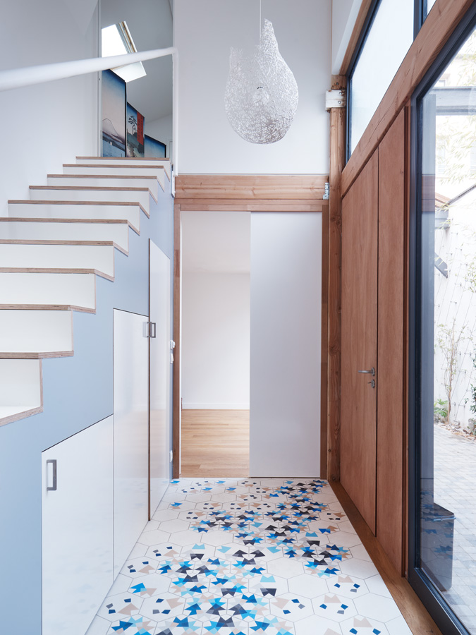Construction maison de ville : escalier