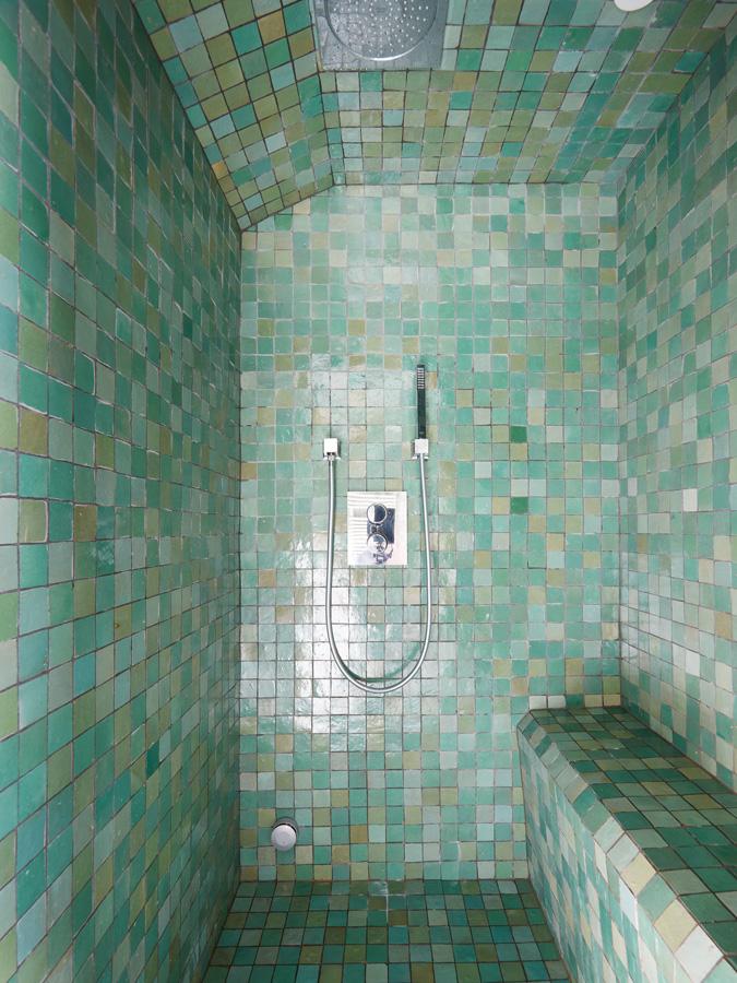 Construction maison de ville : douche